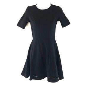 Women Black Short Sleeves  Dress Bar 3 Size S/P